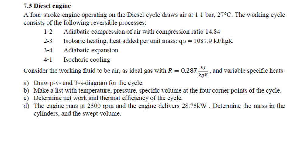 medium resolution of a four stroke engine operating on the diesel cycle