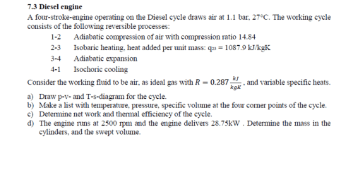 small resolution of a four stroke engine operating on the diesel cycle