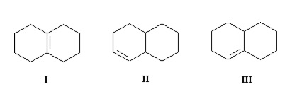 Solved: Arrange The Following Bicyclic Alkenes In Order Of