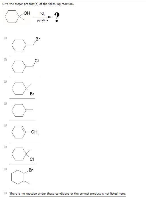 Solved: Give The Major Product(s) Of The Following Reactio