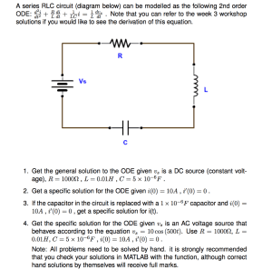 Solved: A Series RLC Circuit (diagram Below) Can Be Modell