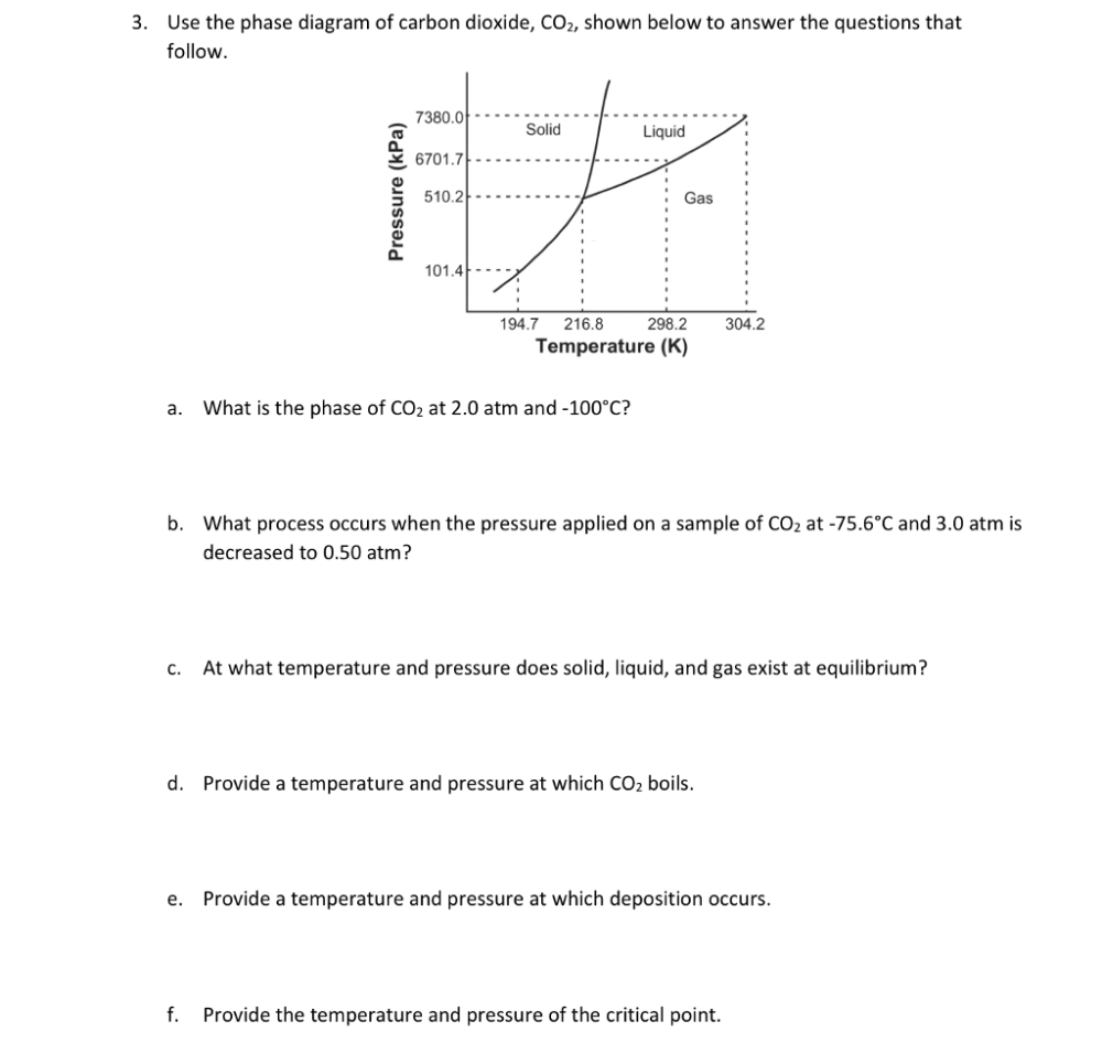 medium resolution of solved use the phase diagram of carbon dioxide co2 show chegg com