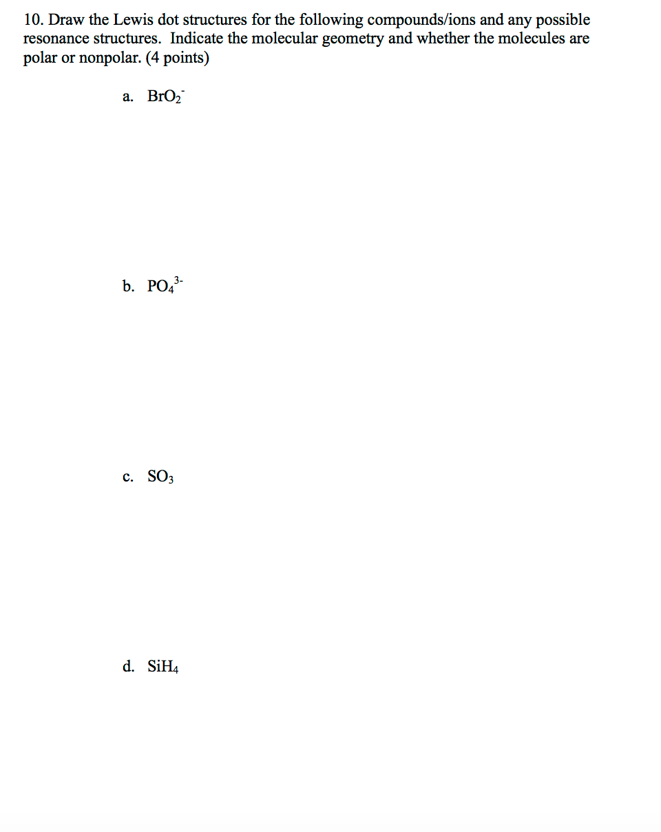 medium resolution of draw the lewis dot structures for the following co