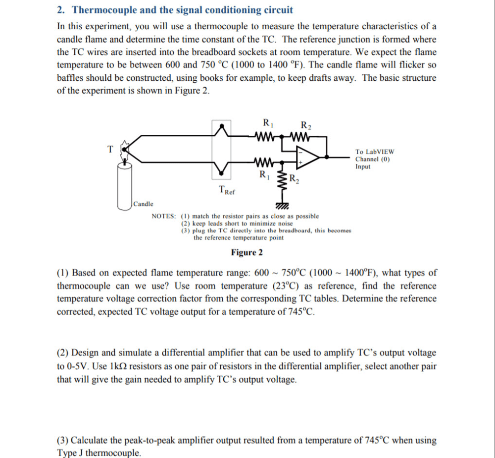 medium resolution of thermocouple and the signal conditioning circuit in this experiment you will use a