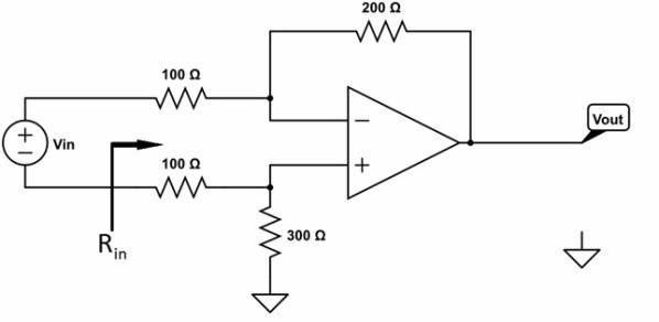 Solved: Find Vout/Vin And The Input Resistance For The Fol