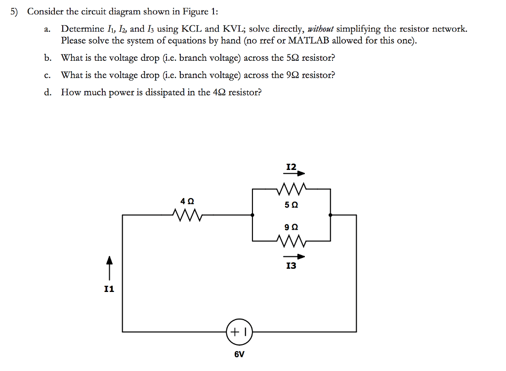how to solve circuit diagrams triumph tr6 overdrive wiring diagram solved 5 consider the shown in figure 1 a determine i