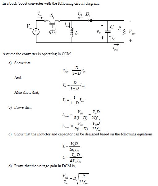 circuit diagram of buck boost converter cat5e wire solved in a with the following circu t assume
