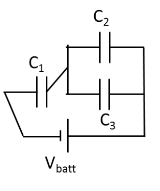 Solved: ?Three Capacitors Are Connected To A Battery As Sh