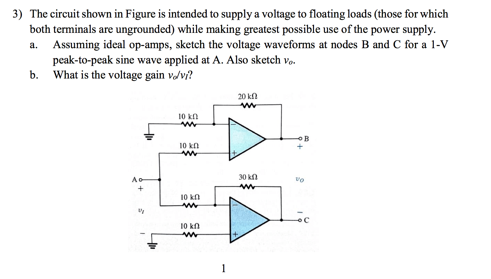 hight resolution of question the circuit shown in figure is intended to supply a voltage to floating loads those for which bo