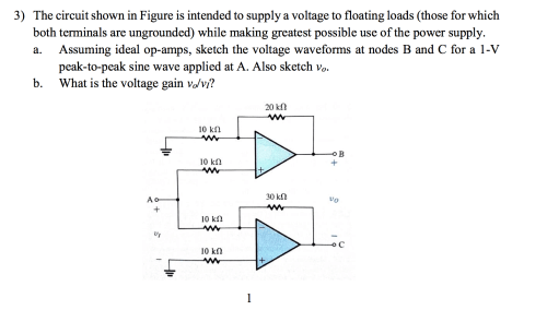 small resolution of question the circuit shown in figure is intended to supply a voltage to floating loads those for which bo