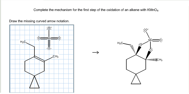 Solved Complete The Mechanism For The First Step Of The O