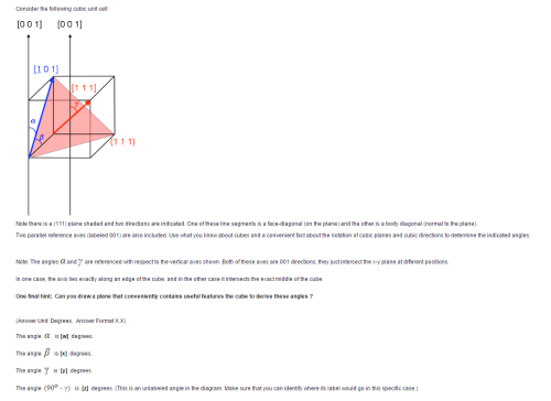 small resolution of consider the following cubic unit cell note ther
