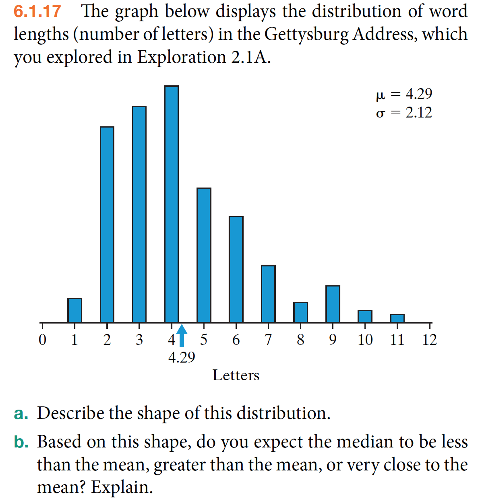 hight resolution of 6 1 17 the graph below displays the distribution of word lengths number of letters