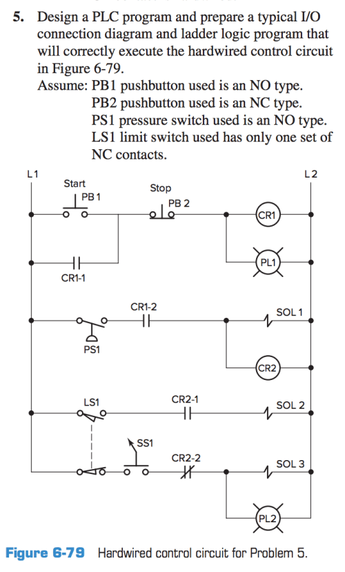 small resolution of design a plc program and prepare a typical i o connection diagram and ladder logic