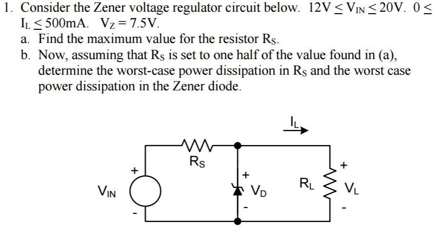 12v Zener Diode Voltage Regulator Circuit