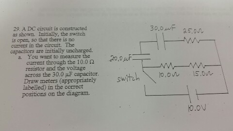 Solved: A DC Circuit Is Constructed As Shown. Initially, T