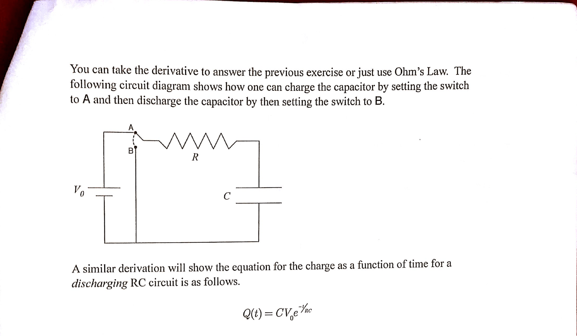 hight resolution of you can take the derivative to answer the previous chegg com capacitor circuit diagram the following diagram shows