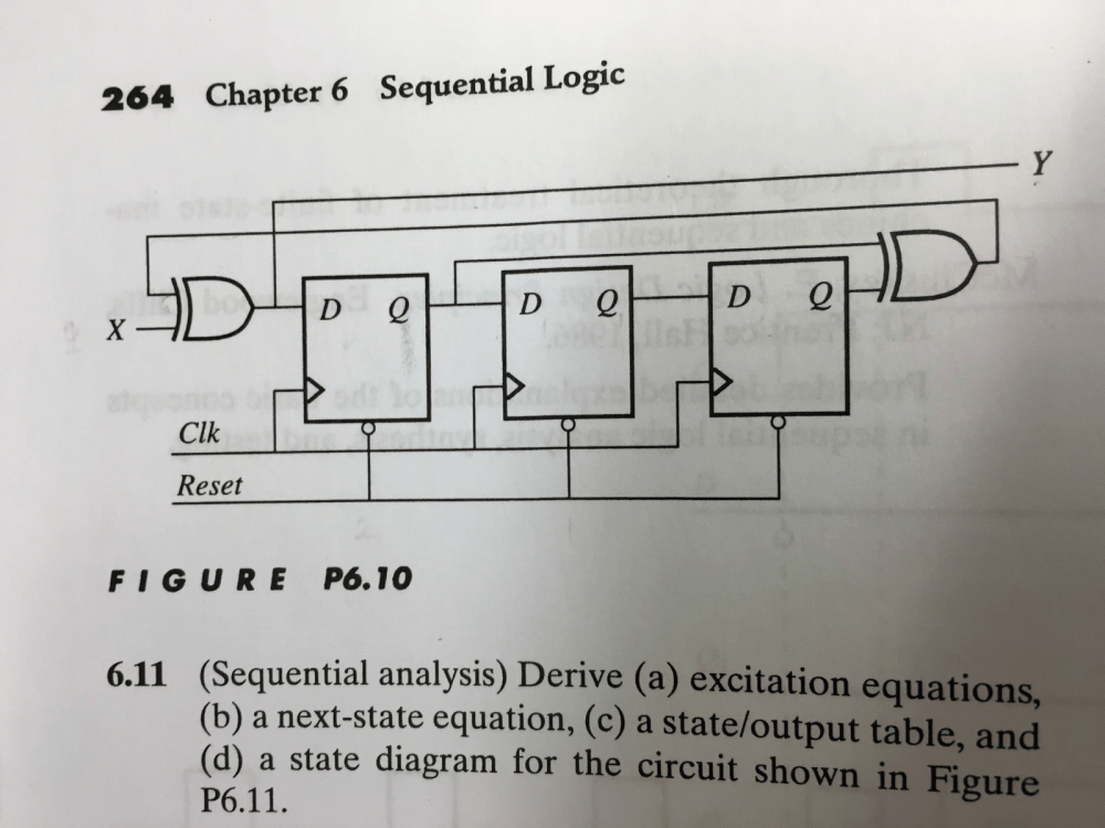 medium resolution of 1 conduct the analysis of the sequential circuit chegg com figure 10 logic schematic of a sequential circuit