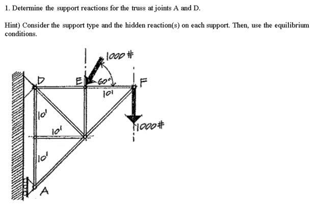 Solved: Determine The Support Reactions For The Truss At J