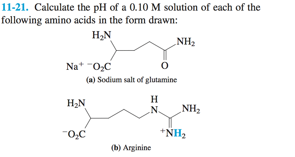 Solved: 11-21. Calculate The PH Of A 0.10 M Solution Of Ea