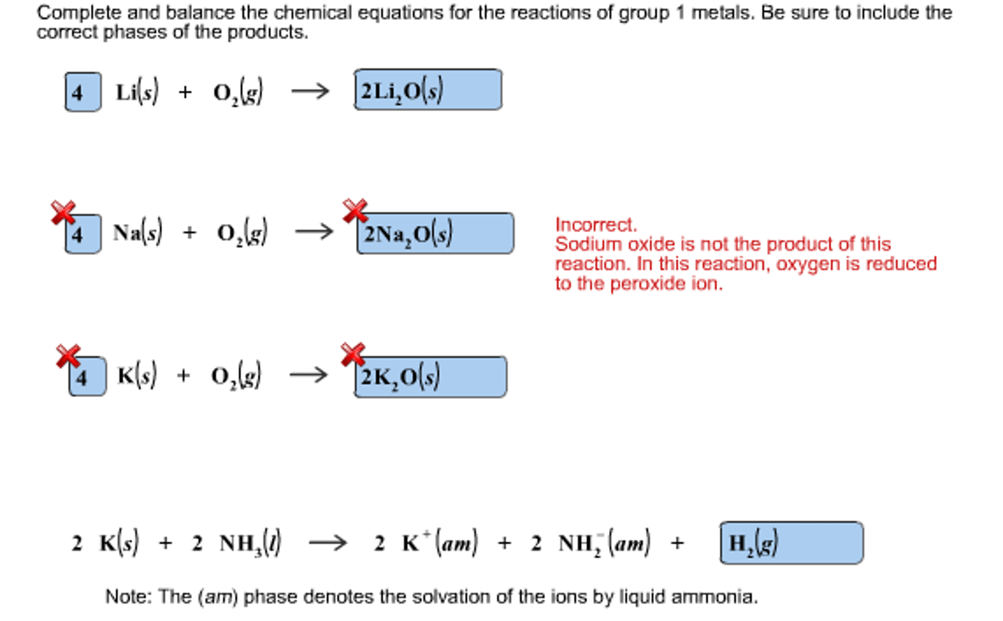Solved Complete And Balance The Chemical Equations For Th