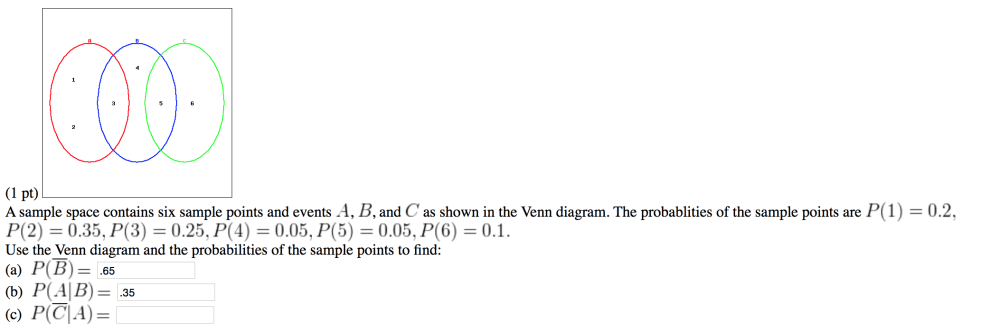 medium resolution of a sample space contains six sample points and even