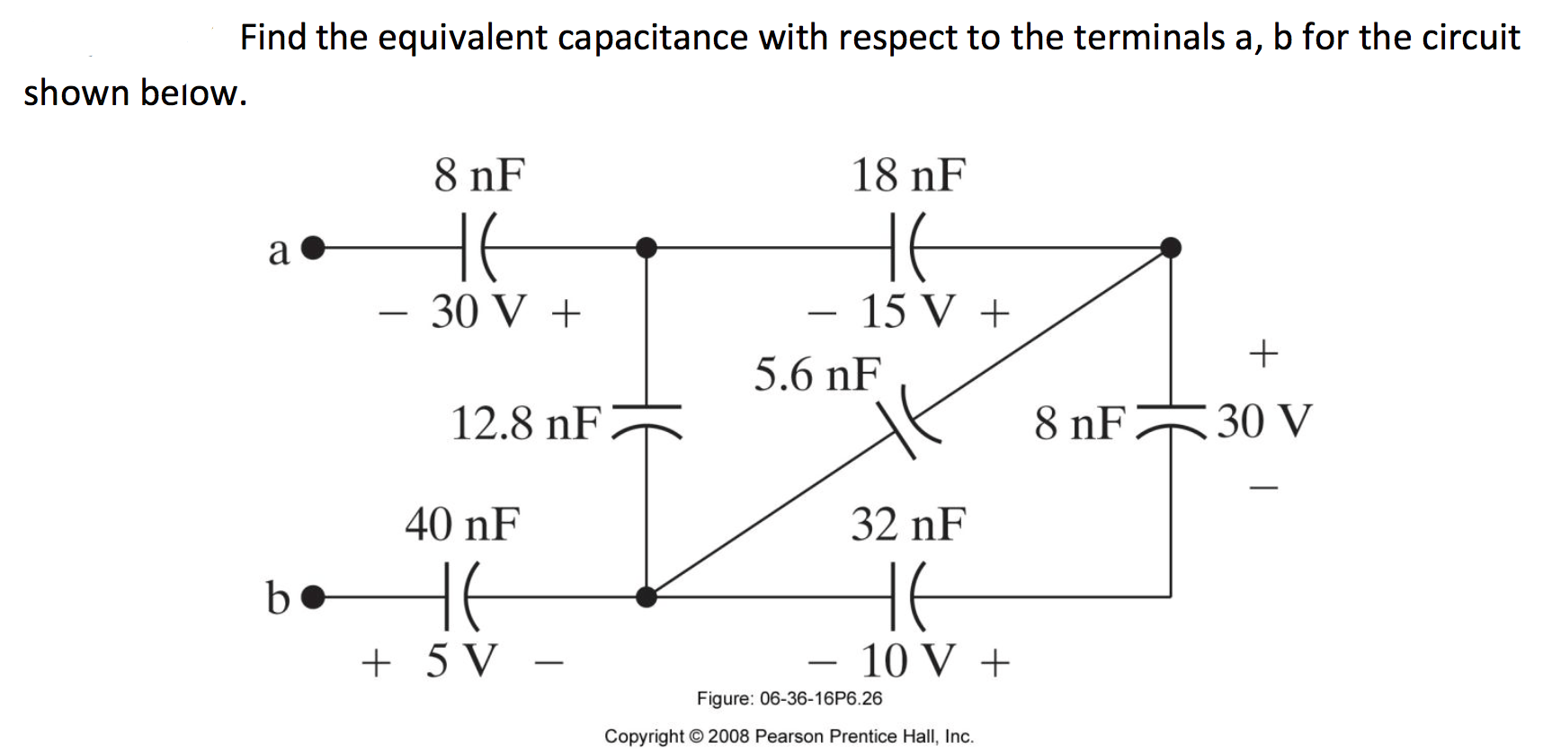 Solved: Find The Equivalent Capacitance With Respect To Th
