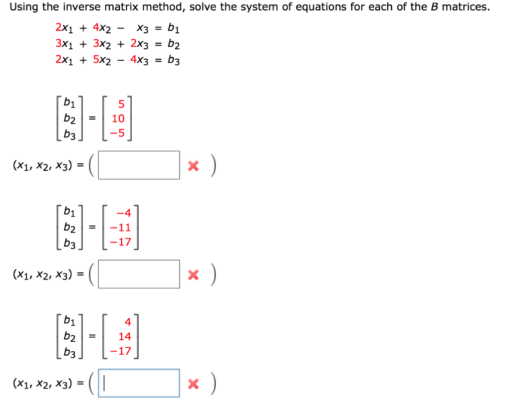 How To Solve A System Of Equations With Inverse Matrices