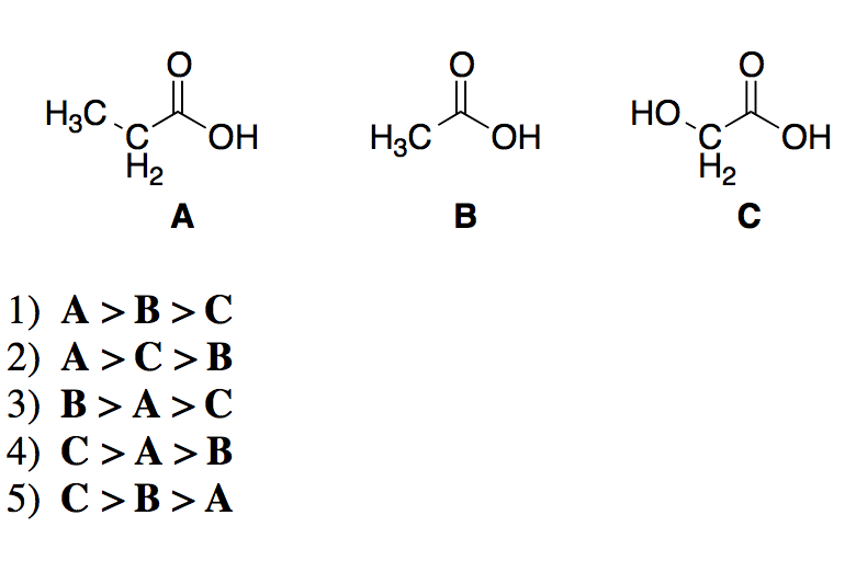 Solved: The Question Is Rank The Following Carboxylic Acid
