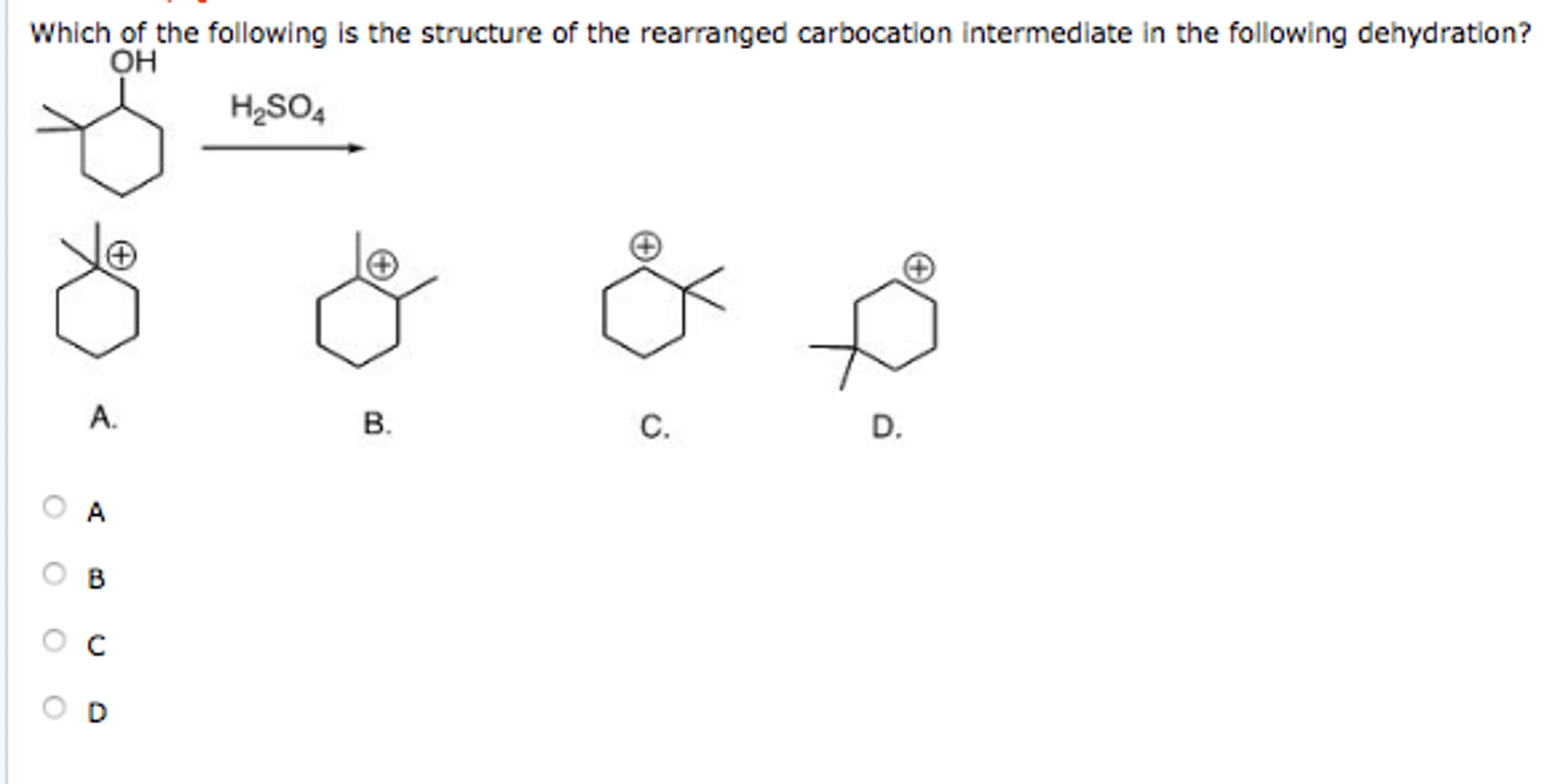 Solved: Which Of The Following Is The Structure Of The Rea