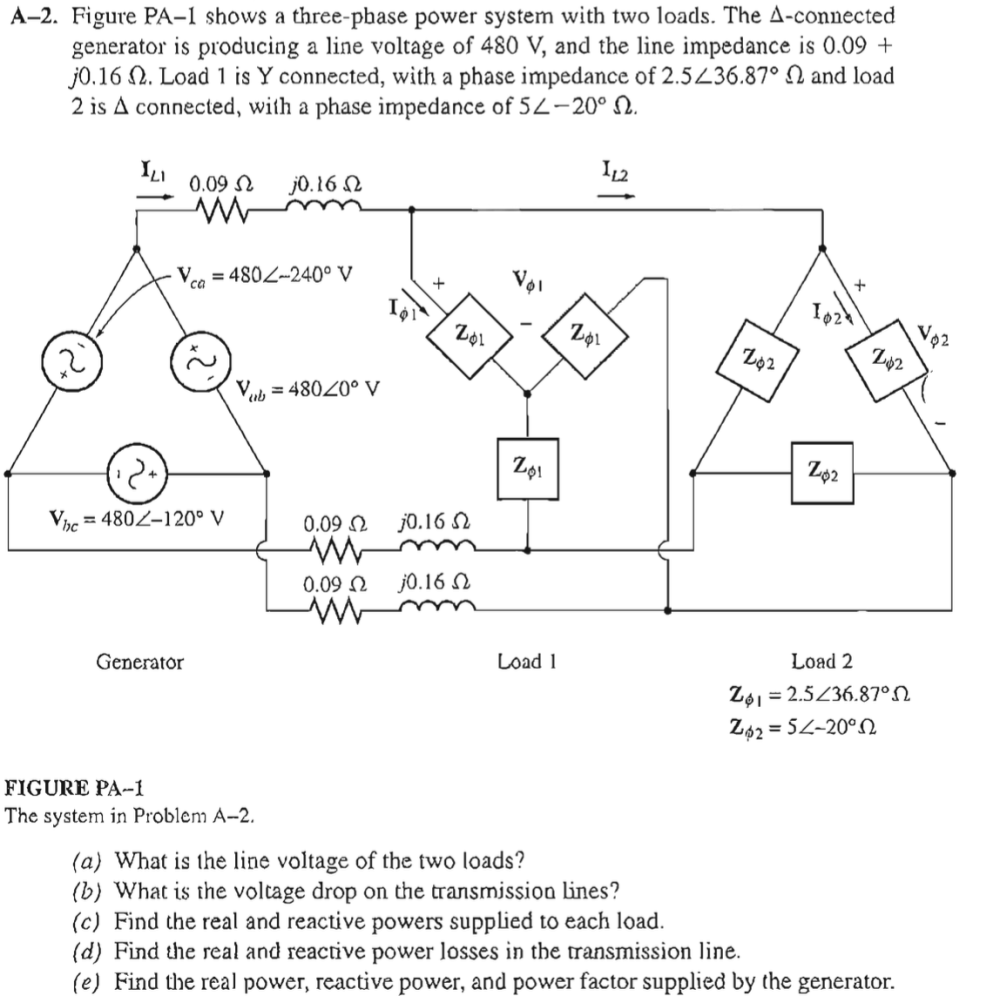 medium resolution of figure pa 1 shows a three phase power system with