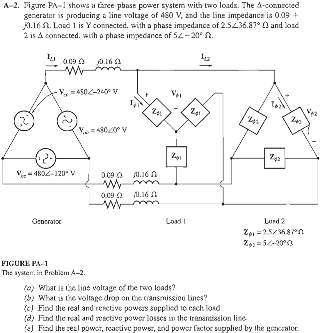 hight resolution of figure pa 1 shows a three phase power system with