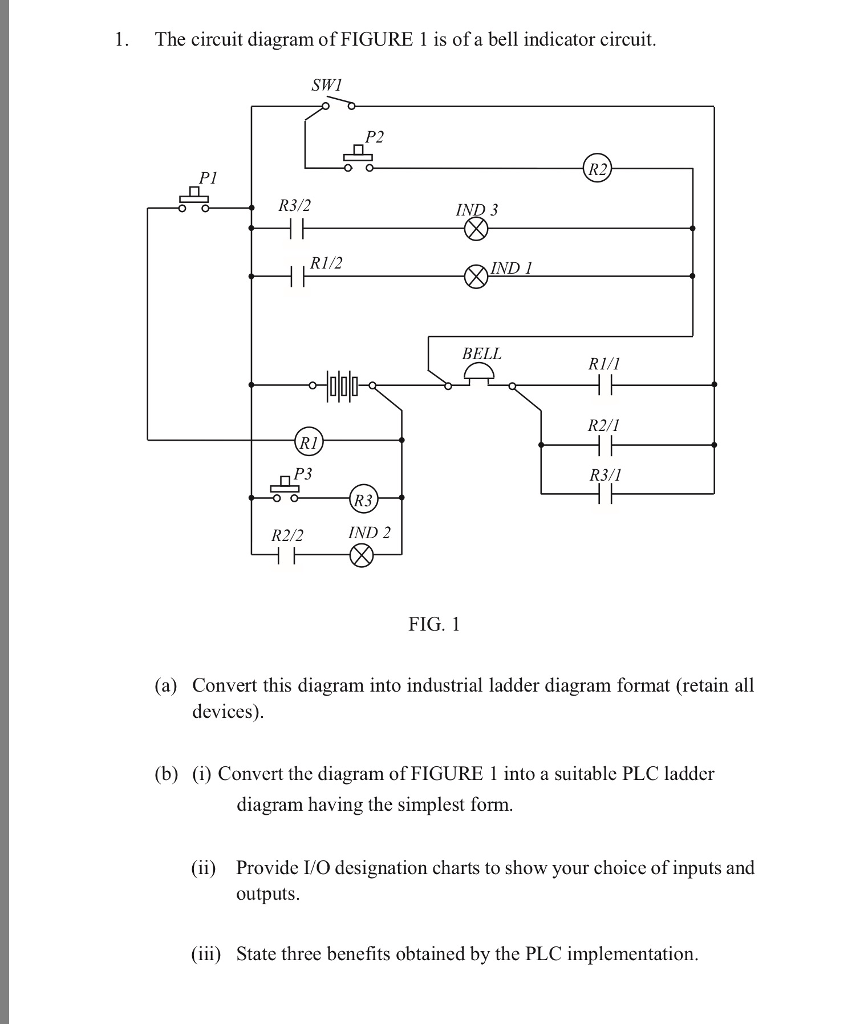 medium resolution of the circuit diagram of figure 1 is of a bell indicator circuit swi