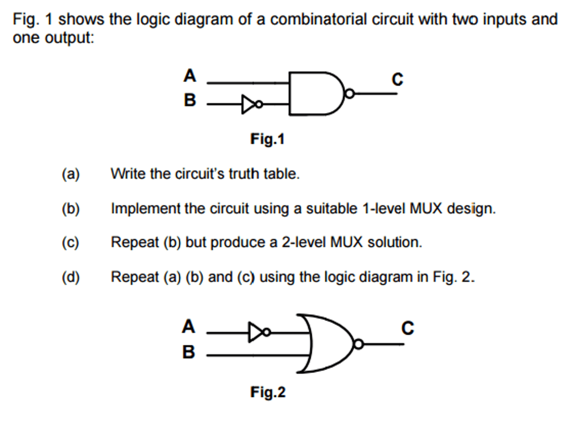 hight resolution of solved fig 1 shows the logic diagram of a combinatorial1 shows the logic diagram of a