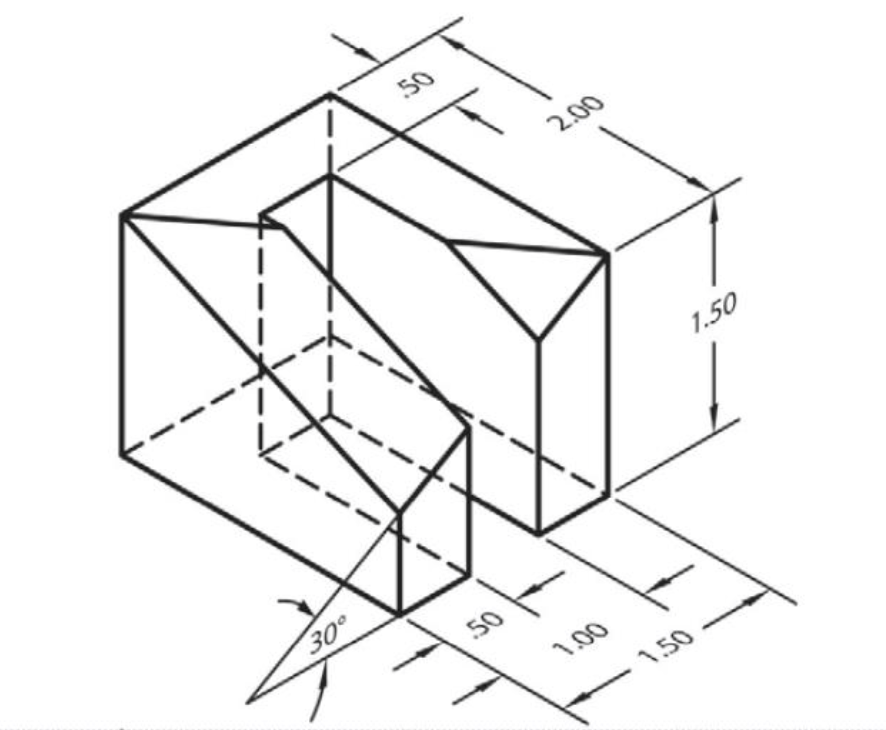 Solved: On The Graph Paper Below, Sketch An Isometric View