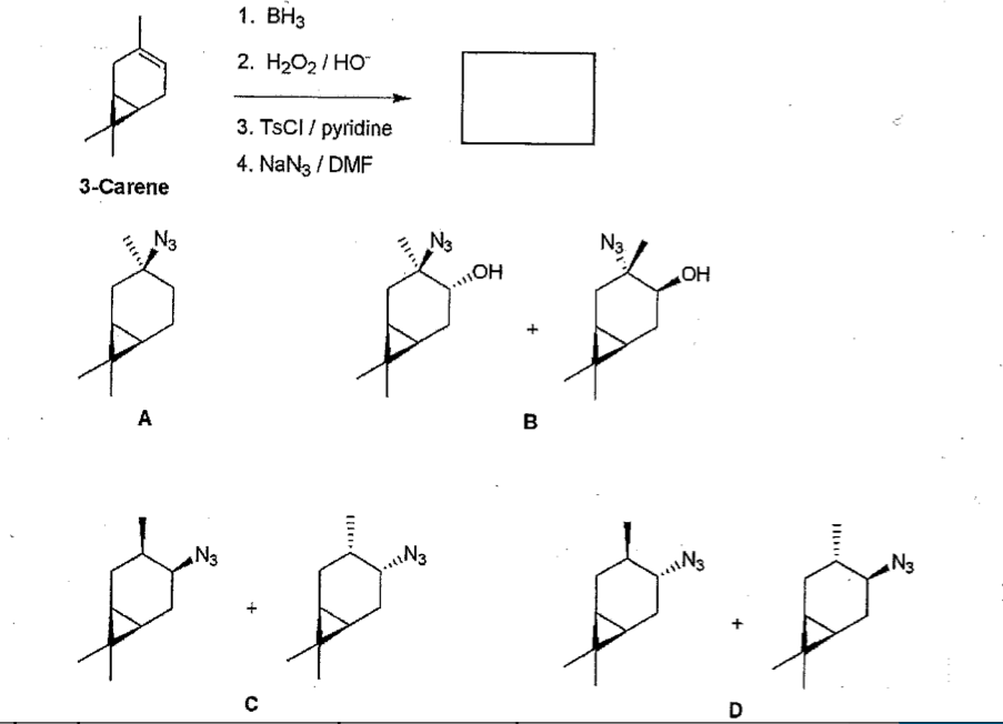 Solved: Determine The Structure Of The Finbal Product When