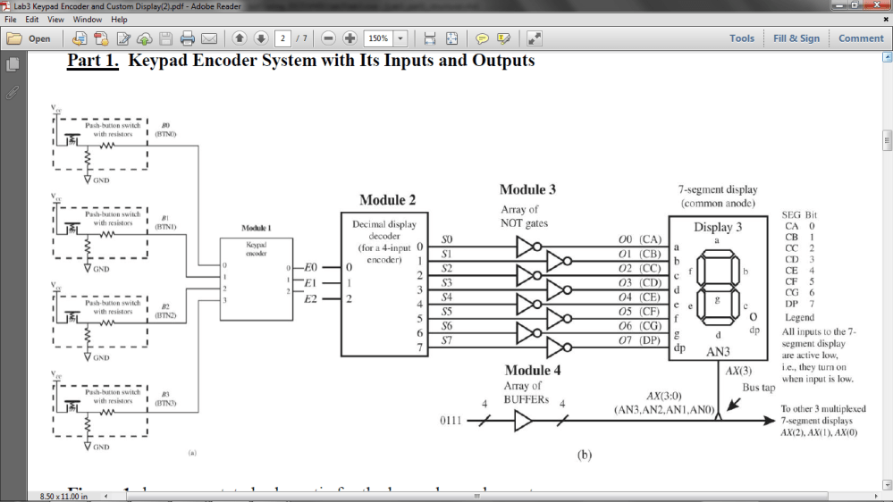 medium resolution of annotated schematic for the keypad encoder system