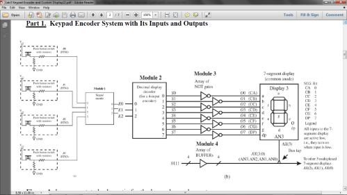 small resolution of annotated schematic for the keypad encoder system