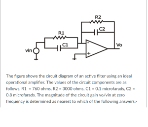 Solved: The Figure Shows The Circuit Diagram Of An Active