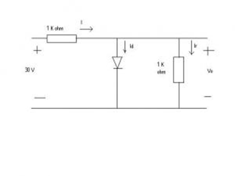 Solved: Question 1 Determine The Current ID And The Diode