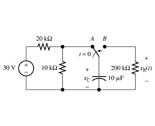 Solved: In The Circuit Of The Figure Below, The Switch Is
