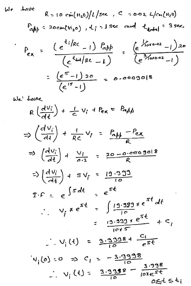 ex rS We haise. dVi dt lvi dt a t s dt Т.С. е st 13.333 x e CL vi(1) 3-3 3384 vi (t) - 3-333? 3.338 1oxest
