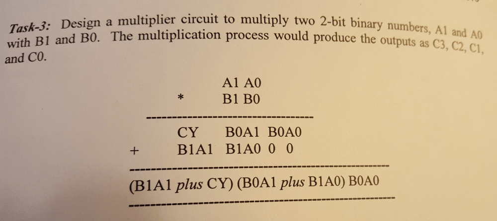 medium resolution of with b1 and bo the multiplica and co task 3 design a