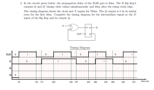 Solved: Complete The Timing Diagram For The Intermediate S