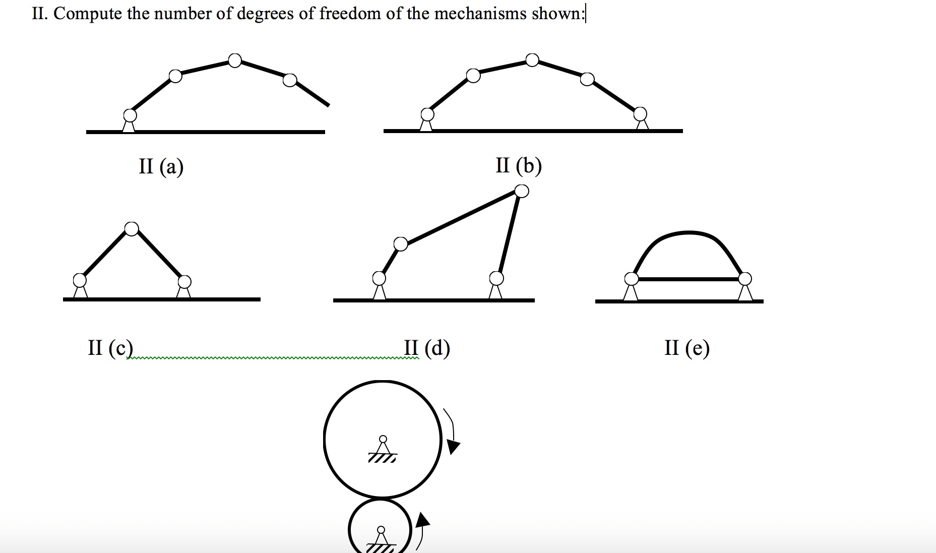 Solved: II. Compute The Number Of Degrees Of Freedom Of Th