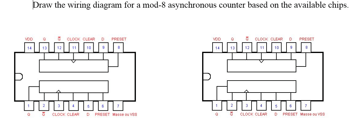 draw wiring diagrams typical diagram the for a mod 8 asynchronous chegg com