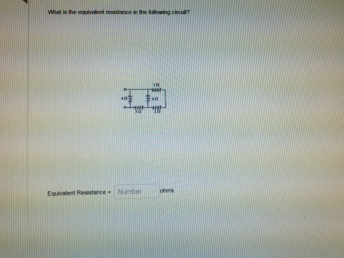 Resistors What Is The Equivalent Resistance Of The Circuit Below