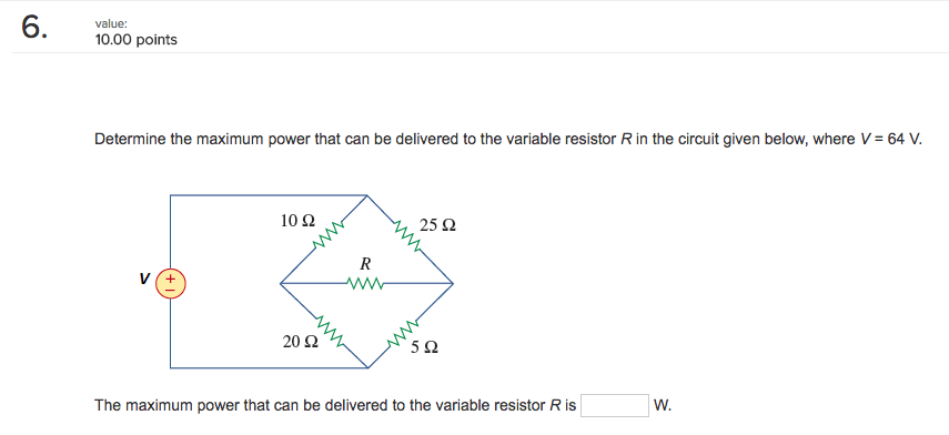 Solved: Determine The Maximum Power That Can Be Delivered