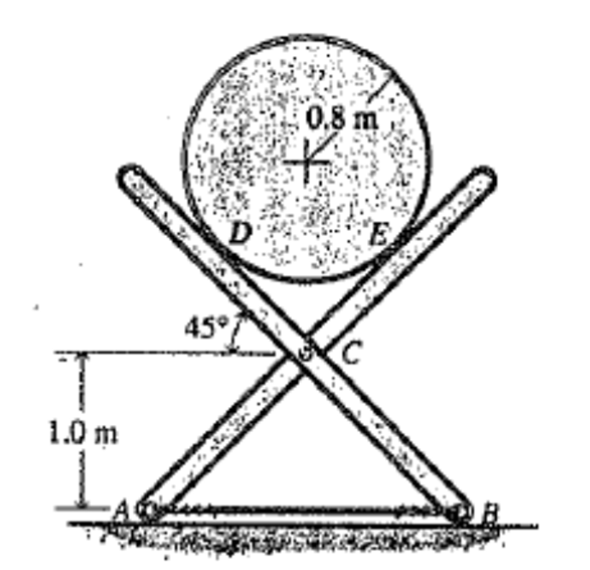 Solved: A Cylinder With Mass Of 150 Kg Is Supported By A T