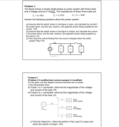 problem 1 the figure shows a simple single phase ac power system with three [ 889 x 887 Pixel ]